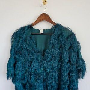 Turquoise Flapper Dress